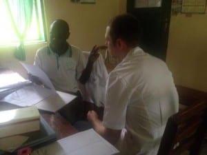 Jamie teaching OT tech Jackson at kagando.preview