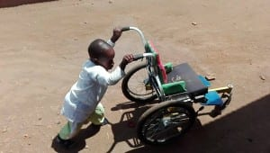 Chid with wheelchair