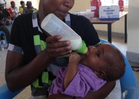 Introducing a soft bottle and teat to a baby with a bilateral cleft lip and palate